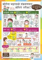 ネパール語の新型コロナ感染予防啓発ポスター